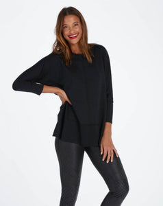 Spanx: Dolman Sweatshirt - Very Black - The Vogue Boutique