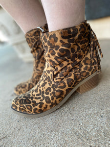 Not Rated Veronica Leopard Booties NRLB0514-963