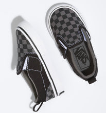 Load image into Gallery viewer, Vans: Children's Classic Slip-On Black & Pewter Checkerboard - The Vogue Boutique