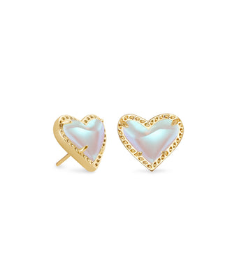 Kendra Scott: Ari Heart Stud - Dichroic Glass - The Vogue Boutique