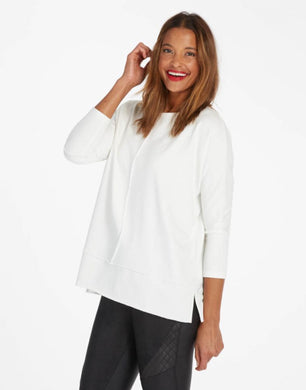 Spanx: Dolman Sweatshirt- Powder - The Vogue Boutique