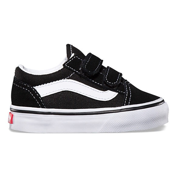 Vans: Old Skool - V Black (Toddler) - The Vogue Boutique