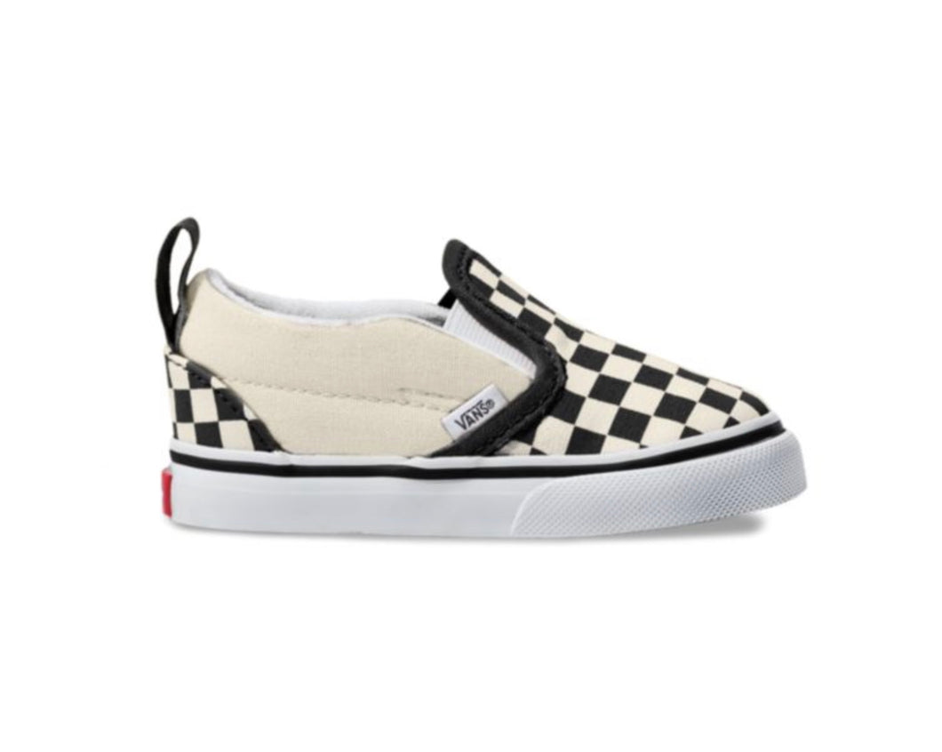 Vans Classic Slip on Black White Checker Toddler VN000EX8BWW