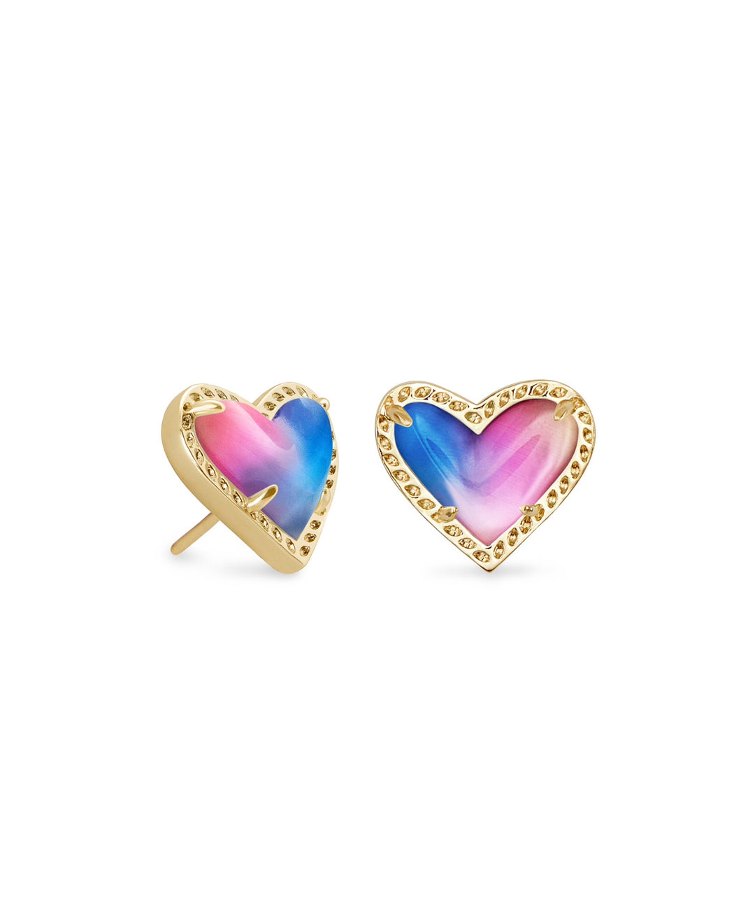 Kendra Scott: Ari Heart Stud - Watercolor Illusion - The Vogue Boutique