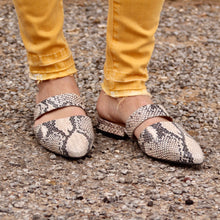 Load image into Gallery viewer, Able: Joselyene Flat - Snake Skin - The Vogue Boutique