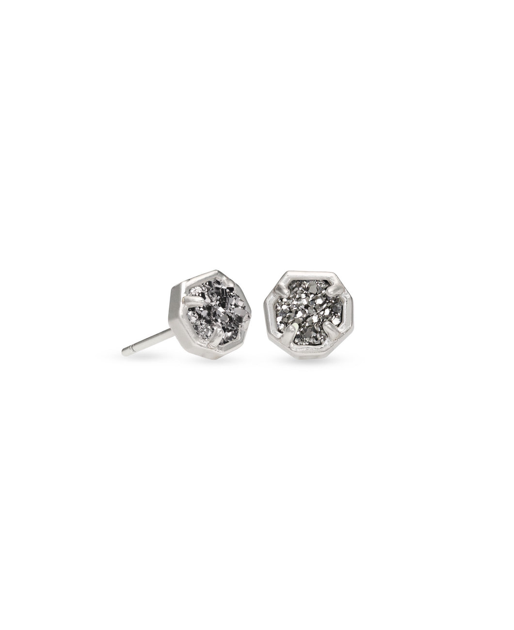 Kendra Scott: Nola Stud - Silver Platinum Drusy - The Vogue Boutique