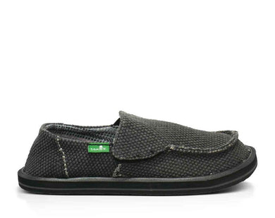 Sanuk: Y Vagabond Boys- Black - The Vogue Boutique
