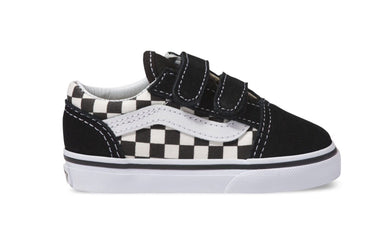 Vans: Old Skool Children's - Primary Check Black & White - The Vogue Boutique