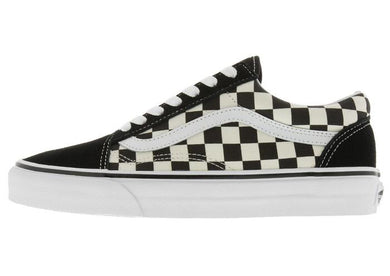 Vans: Old Skool Checkerboard - Black & White - The Vogue Boutique