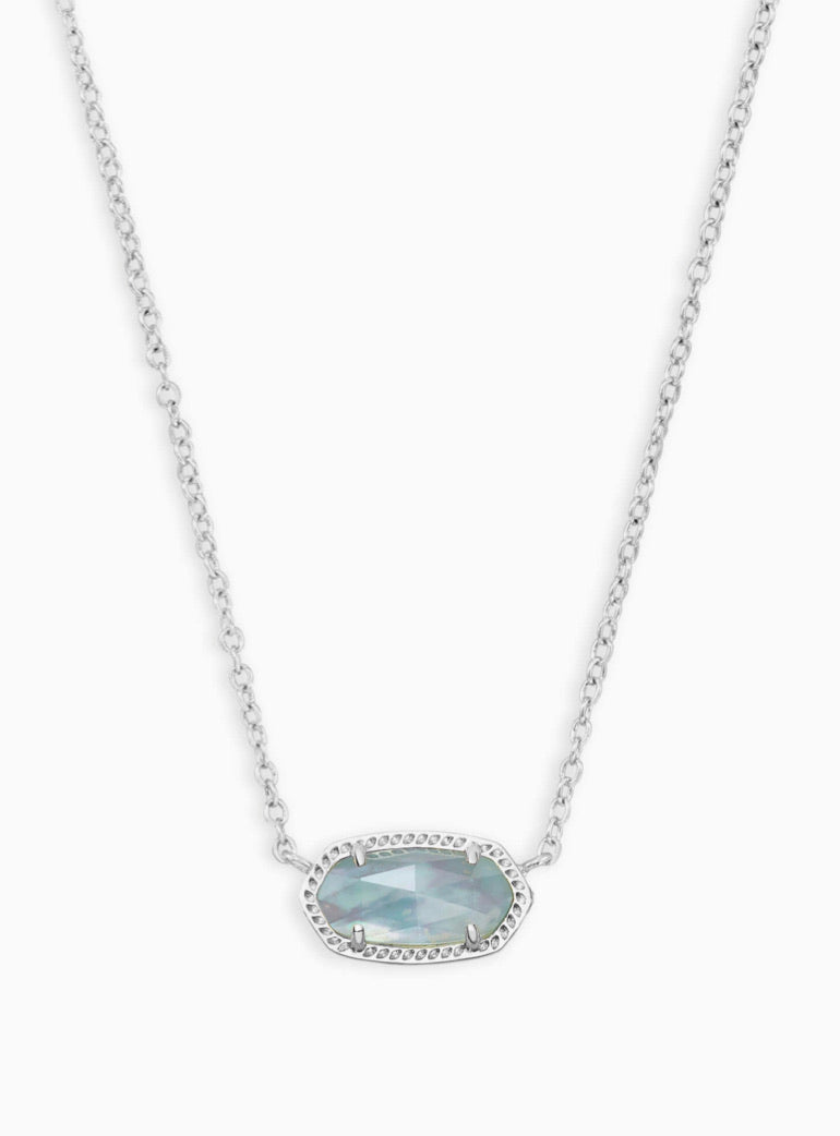 Kendra Scott: Elisa Birthstone Silver Pendant Necklace - The Vogue Boutique