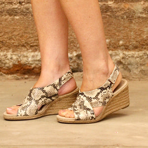 Clarks Lafley Alaine - Taupe Snake Print - The Vogue Boutique