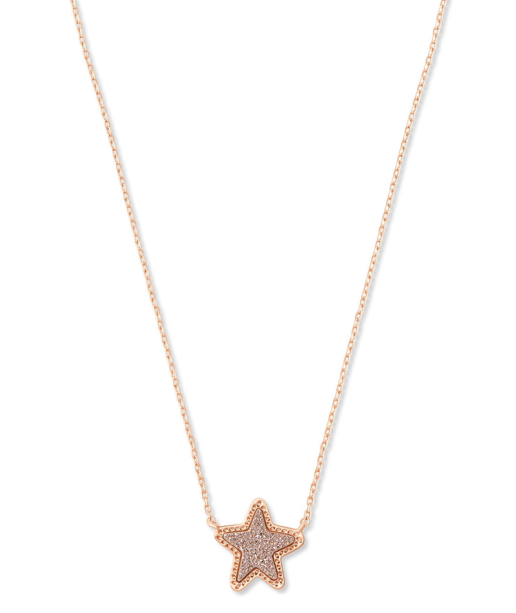 Kendra Scott: Jae Star Pendant Necklace - Rose Gold Drusy