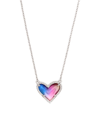 Kendra Scott: Ari Heart Short - Watercolor Illusion - The Vogue Boutique