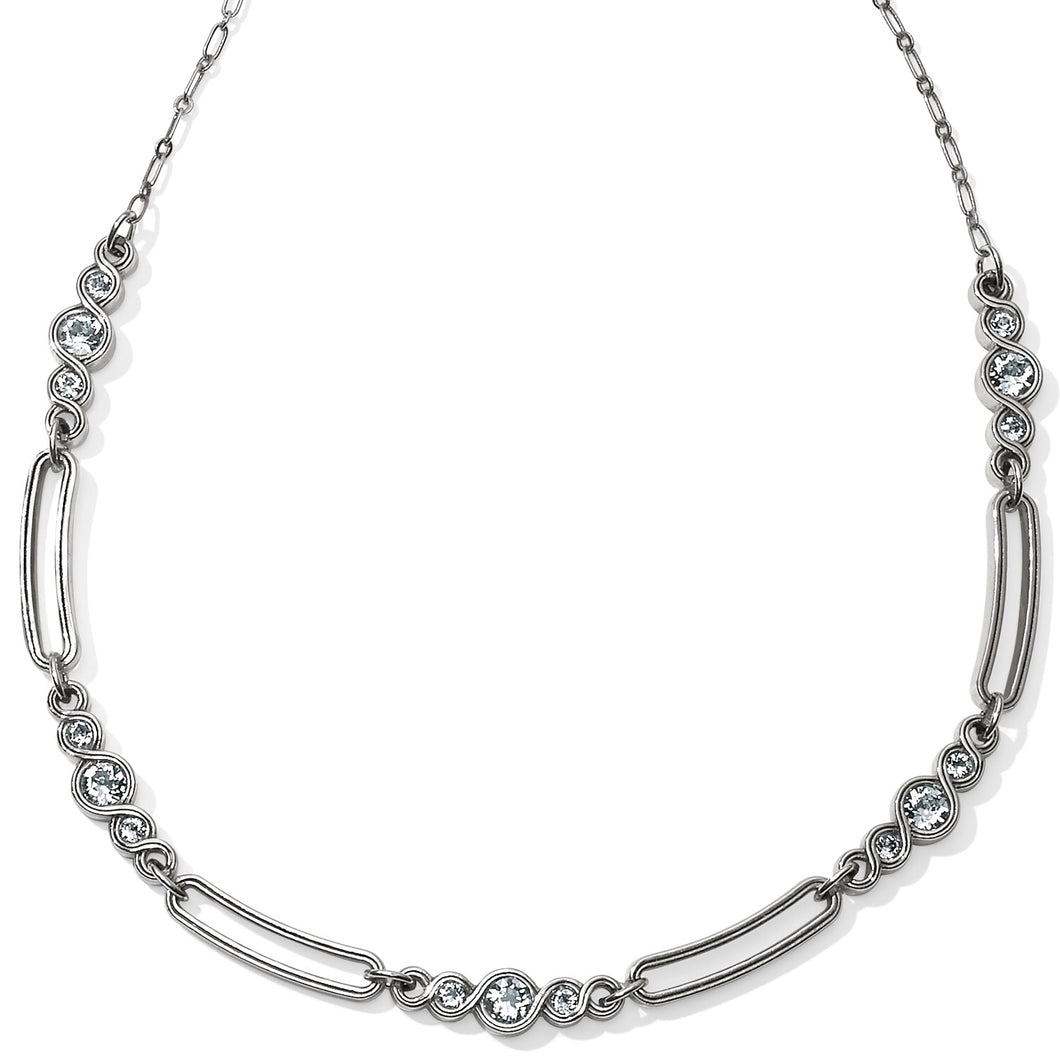 Brighton: Infinity Sparkle Link Collar Necklace - JL9561 - The Vogue Boutique