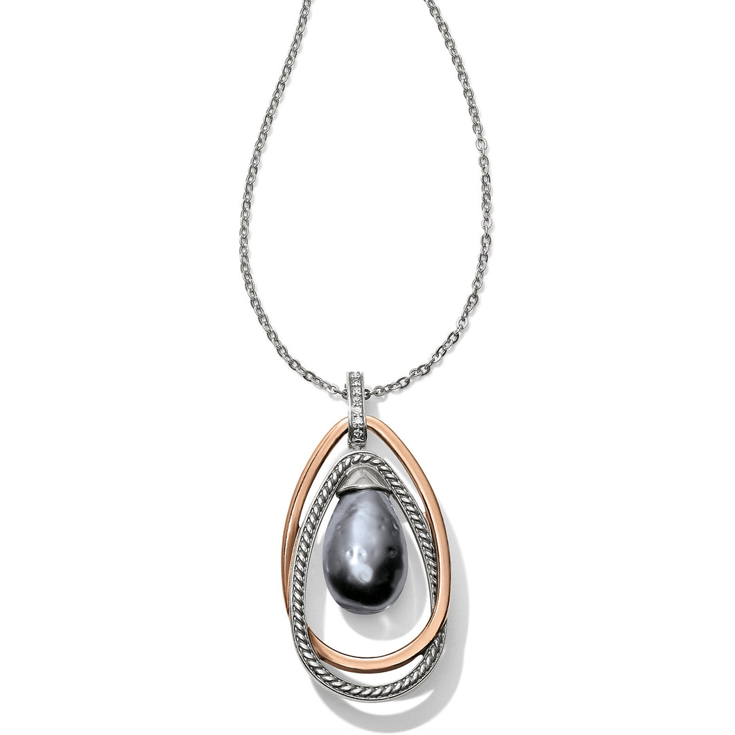 Brighton: Neptune's Rings Gray Pearl Pendant Necklace - JM118B - The Vogue Boutique