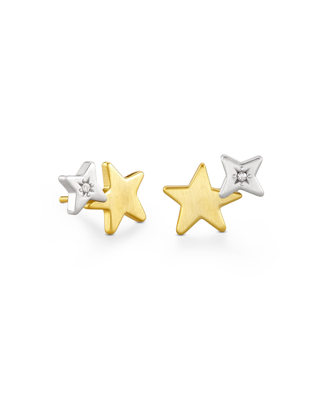 Kendra Scott: Jae Star Ear Climber In Mixed Metal - The Vogue Boutique