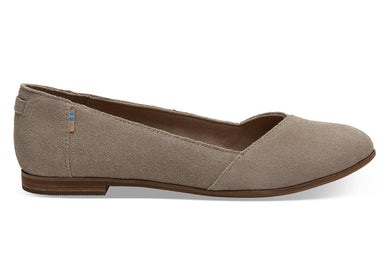 TOMS Julie Desert Taupe Suede - The Vogue Boutique