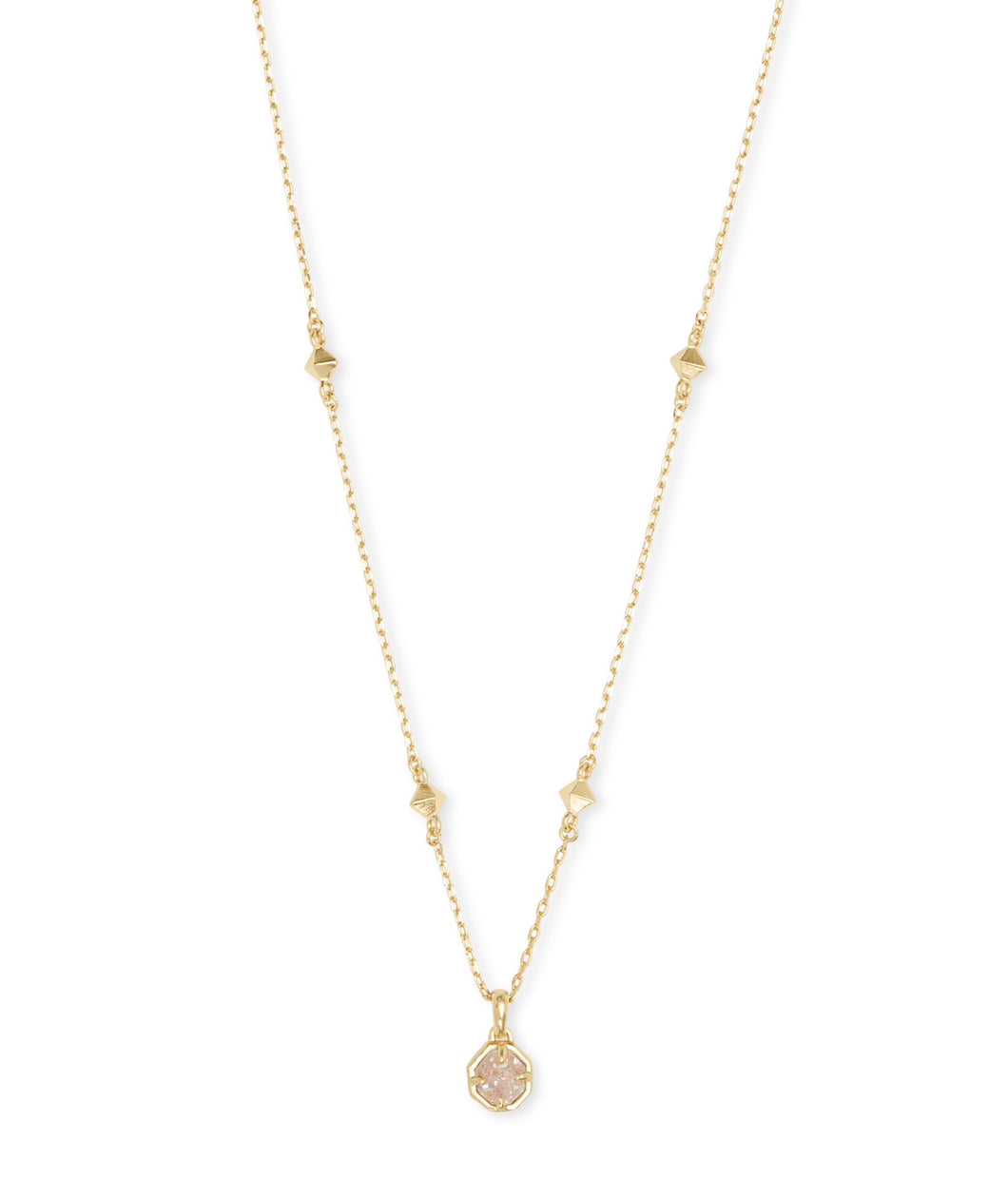 Kendra Scott: Nola Short Gold Iridescent Drusy Necklace - The Vogue Boutique