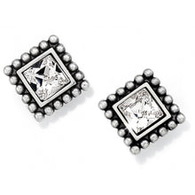 Load image into Gallery viewer, Brighton Sparkle Square Mini Post Earrings J20602