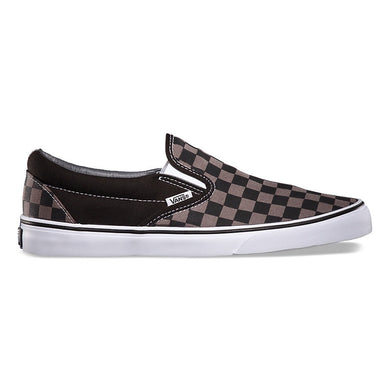 Vans: Classic Slip On - Black & Pewter Checkerboard - The Vogue Boutique