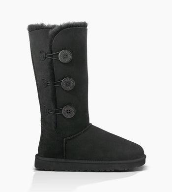 UGG Bailey Button Triplet Black - The Vogue Boutique