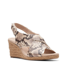 Load image into Gallery viewer, Clarks Lafley Alaine - Taupe Snake Print - The Vogue Boutique