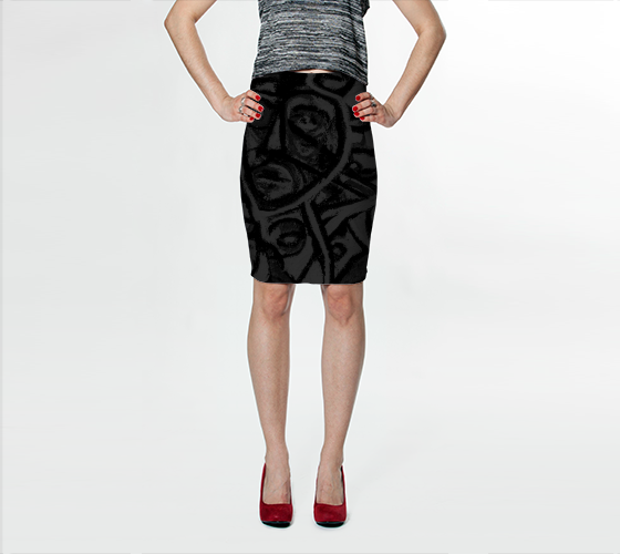 Charlee The Messenger NOIR Pencil Skirt