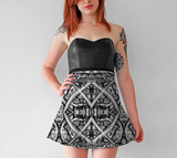 Charlee Shears Flare Skirt in Black and White