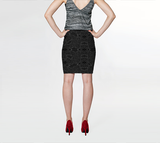Charlee Time Lapse NOIR Pencil Skirt