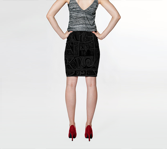 Charlee Urban Experiment NOIR Pencil Skirt