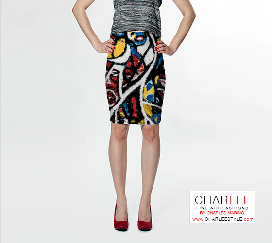 Charlee The Messenger Fitted Skirt Front View