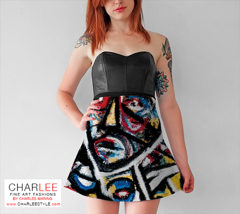 Charlee The Messenger NOIR Flare Dress