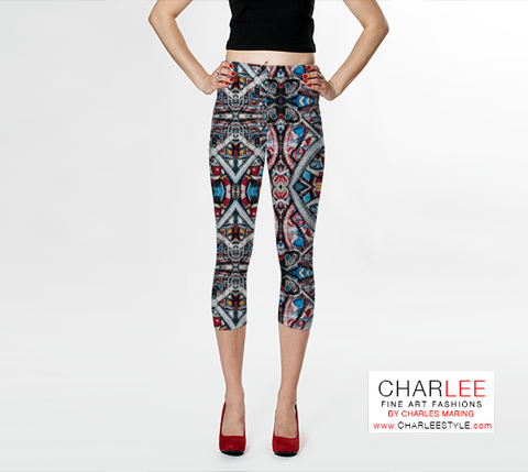 Charlee Time Lapse Leggings in Black and White