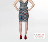 Charlee Shears Fitted Skirt Back View