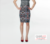 Charlee Shears Fitted Skirt Front View