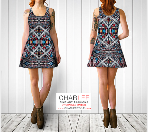Charlee The Dream Flare Dress in BW