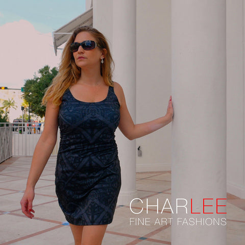 Charlee Shears Bodycon Dress in BW