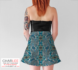Charlee Time Lapse Flare Skirt Back View