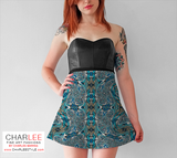 Charlee Time Lapse Flare Skirt Front View