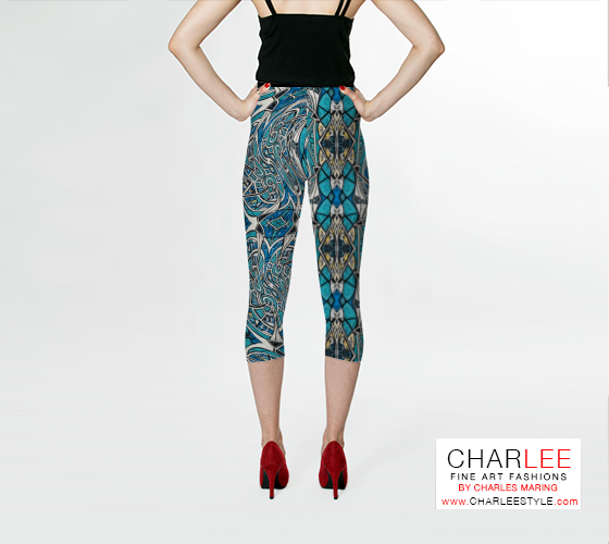 Charlee Time Lapse Capris Back View