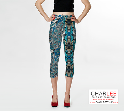 Charlee The Messenger Leggings in Black and White