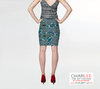 Charlee Time Lapse Fitted Skirt Back
