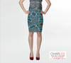 Charlee Time Lapse Fitted Skirt Front