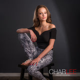 Time Lapse Athleisure Leggings by Charlee in BW