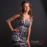 Charlee Urban Experiment Bodycon Dress in BW