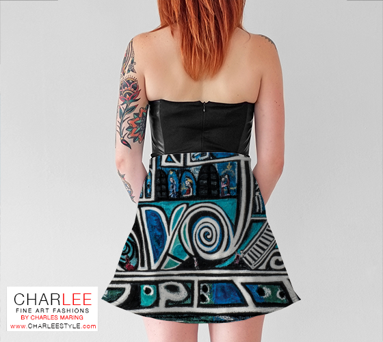 Charlee Urban Experiment Flare Skirt Back View