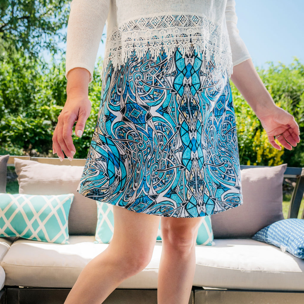 Charlee Time Lapse Flare Skirt