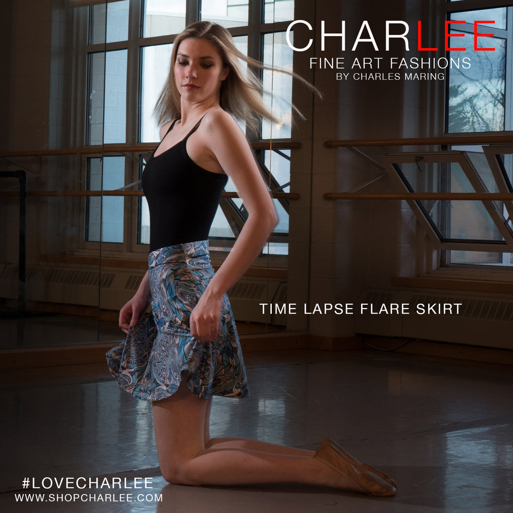 Time Lapse Flare Skirt by Charlee