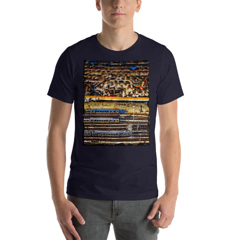 "Charlee NYC ""Brooklyn Bridge"" Mens V-Neck T-Shirt"