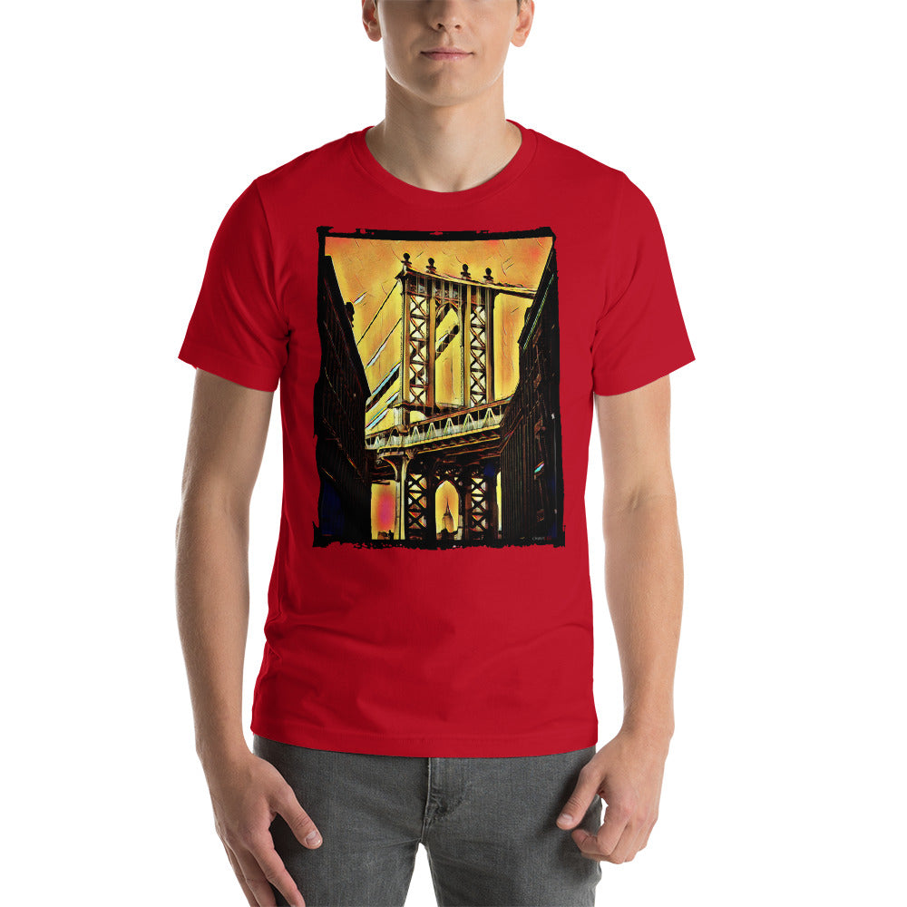 "Charlee ""Brooklyn Bridge"" Men's Crew Neck Short-Sleeve Unisex T-Shirt"